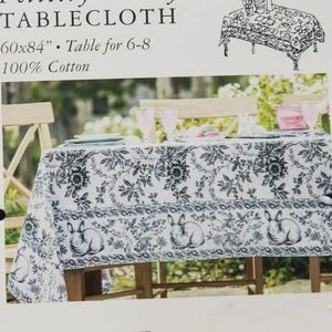 April Cornell Felicity Bunny Oblong Tablecloth